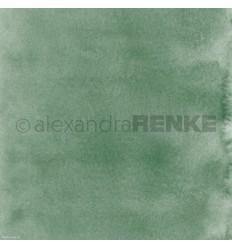 Scrapbooking Papier Mimis Kollektion Aquarell schilfgrün dunkel - Alexandra Renke