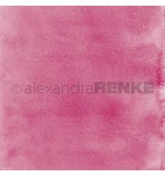 Scrapbooking Papier Mimis Kollektion Aquarell Pink dunkel - Alexandra Renke