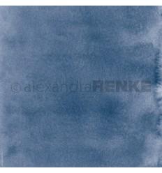 Scrapbooking Papier Mimis Kollektion Aquarell Kornblumen Blau - Alexandra Renke