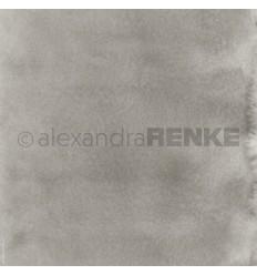 Scrapbooking Papier Mimis Kollektion Aquarell Schlamm dunkel - Alexandra Renke