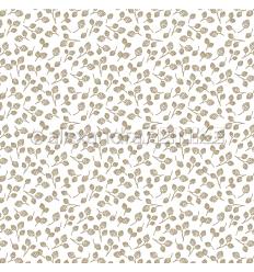 Scrapbooking Papier Goldene Zapfen - Alexandra Renke
