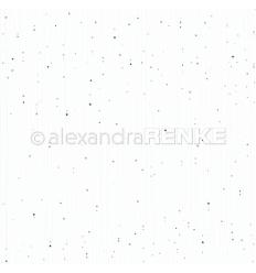 Scrapbooking Papier Sternenstreifen Eisblau - Alexandra Renke