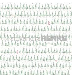 Scrapbooking Papier Tannenbaumwald - Alexandra Renke