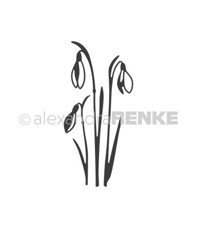 Stanzschablone Schneeglöckchen - Alexandra Renke