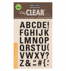 Clear Stamps Luggage Tag Alphabet - Hero Art