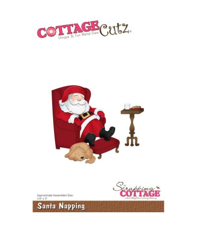 Stanzschablone Santa Napping - Cottage Cutz ***