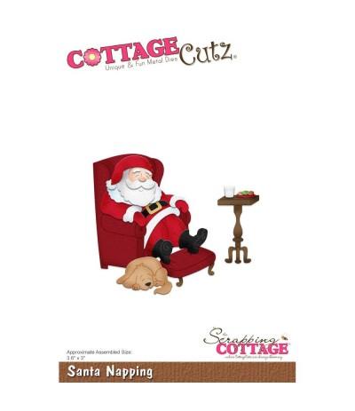 Stanzschablone Santa Napping - Cottage Cutz