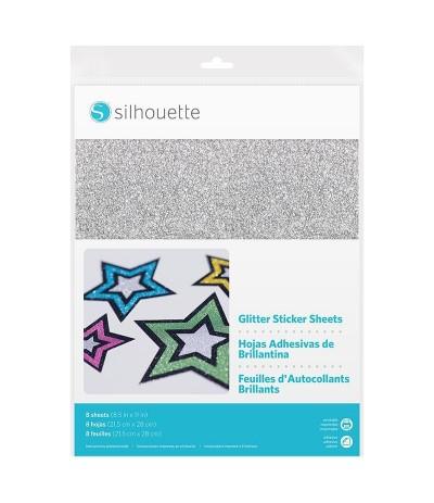Selbstklebende Bedruckbare Klebefolie Silber Glitzer von Silhouette