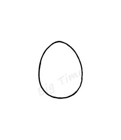 Eier Stempel auf Holz