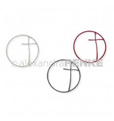 Stanzschablone Kreuz im Kreis - Alexandra Renke