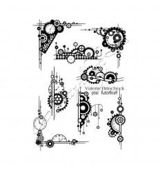 Steampunk elements Gummistempel, unmontiert - Katzelkraft