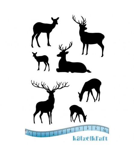 Mini reindeers Gummistempel, unmontiert - Katzelkraft