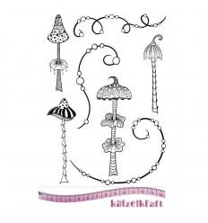Whimsy Mushrooms Gummistempel, unmontiert - Katzelkraft