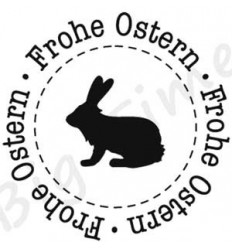 Frohe Ostern Text mit Hase Stempel EZ Mount