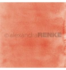 Scrapbooking Papier Mimis Kollektion Aquarell Apricot Dunkel - Alexandra Renke