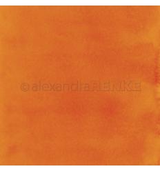 Scrapbooking Papier Mimis Kollektion Aquarell Orange - Alexandra Renke