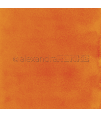 Scrapbooking Papier Mimis Kollektion Aquarell Orange - Alexandra Renke