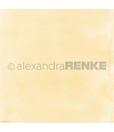 Scrapbooking Papier Mimis Kollektion Aquarell Gelb - Alexandra Renke