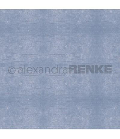Scrapbooking Papier Kornblumen Blau hell Holzstruktur - Alexandra Renke