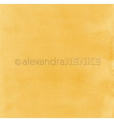 Scrapbooking Papier Mimis Kollektion Aquarell Dunkelgelb