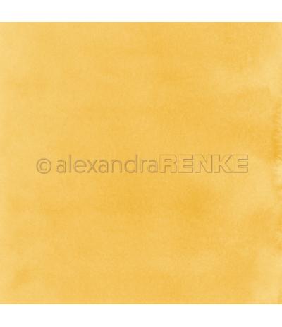 Scrapbooking Papier Mimis Kollektion Aquarell Dunkelgelb - Renke
