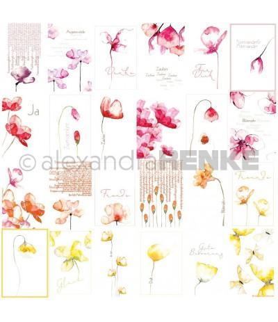 Scrapbooking Papier Kärtchenbogen Blumen - Alexandra Renke