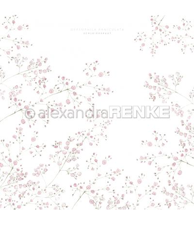 Scrapbooking Papier Schleierkraut Rosa - Alexandra Renke
