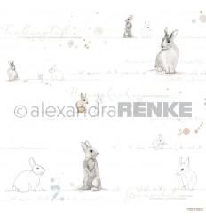 Scrapbooking Papier  Aquarell Häschen Gold - Alexandra Renke