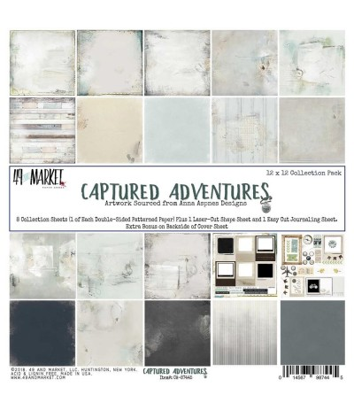 Scrapbooking Papier Captured Adventures, 12 Inch - 49 and Market