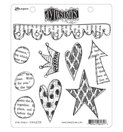 Cling Stempel Star Stuck - Dylusions Ranger