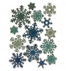 Stanzschablonen Mini Paper Snowflakes - Tim Holtz