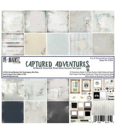 Scrapbooking Papier Captured Adventures, 6 Inch - 49 Market