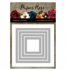 Stanzschablone Stiches Squares Frames - Paper Rose Studio