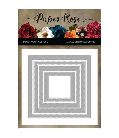 Stanzschablone Stiches Squares Frames - Paper Rose Studio