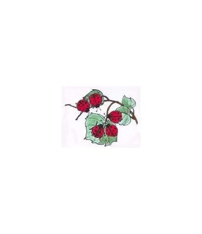 Marienkäfer auf Blatt Stempel
