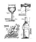 Cling Stempel Set Wine Blueprint - Tim Holtz