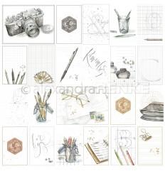 Scrapbooking Papier Kärtchenbogen Reise for you - Alexandra Renke