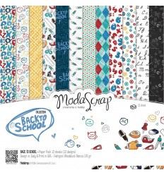 Scrapbooking Papier Back to School, 15x15cm - Moda Scrap
