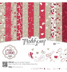 Scrapbooking Papier Simply Love, 15x15cm - Moda Scrap