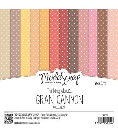 Scrapbooking Papier Thinking about Gran Canyon, 15x15cm - Moda Scrap
