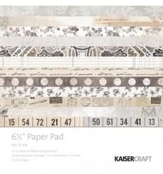 Scrapbooking Papier Pen & Ink, 16.5 x 16.5 cm - Kaisercraft