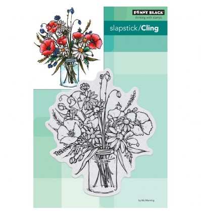 Cling Stempel Vase Garden - Penny Black