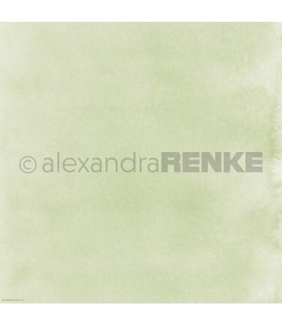 Scrapbooking Papier Mimis Kollektion Aquarell Kleegrün - Alexandra Renke