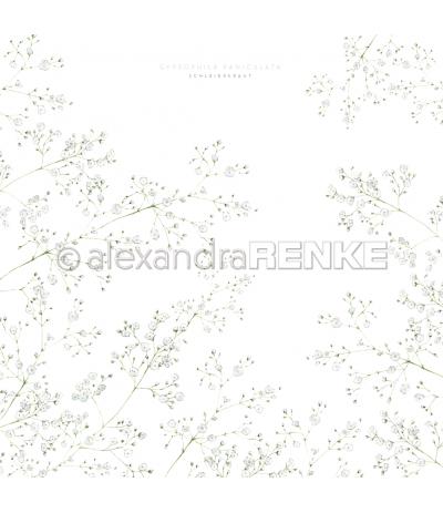 Scrapbooking Papier Schleierkraut - Alexandra Renke