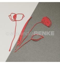Stanzschablone Mohnblume - Alexandra Renke