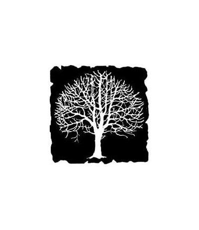 Negativ Baum Stempel