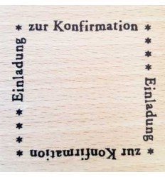 Zur Konfirmation 4er Stempel