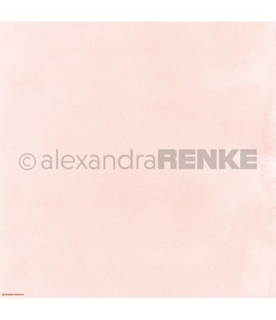 Scrapbooking Papier Mimis Kollektion Aquarell Rosa - Alexandra Renke