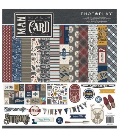 """Scrapbooking Papier Man Card, 12"""" X 12"""" - Photo Play"""