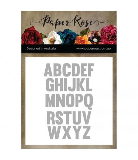 Stanzschablonen Alphabet - Paper Rose